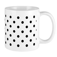 black and white polka dots Mugs