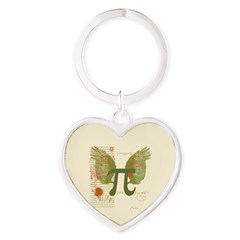 Winged Pi Keychains