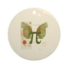 Winged Pi Ornament (Round)
