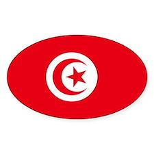 Tunisian Flag Oval Decal