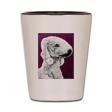 Funny Bedlington terrier Shot Glass