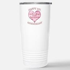 1st. Anniversary Stainless Steel Travel Mug
