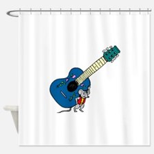 Guitar And Mouse Shower Curtain