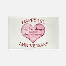 1st. Anniversary Magnets
