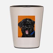 Cute Black russian terrier Shot Glass