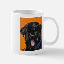 Cute Black russian terrier Mug