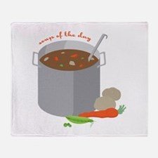 Soup Of Day Throw Blanket
