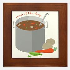 Soup Of Day Framed Tile