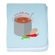Soup Of Day baby blanket