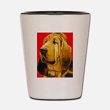 Cute Hound dog Shot Glass