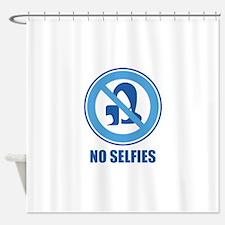 No Selfies Shower Curtain