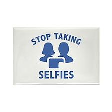 Stop Taking Selfies Rectangle Magnet