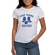 Stop Taking Selfies Tee
