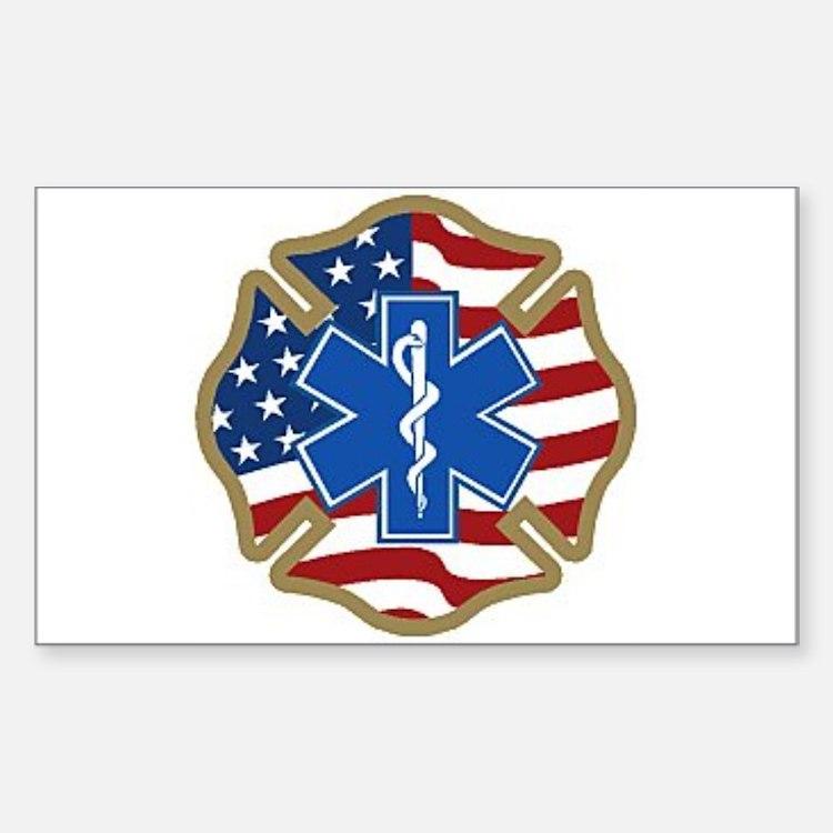American Medic Rectangle Decal