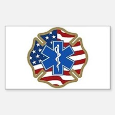 American Medic Rectangle Stickers