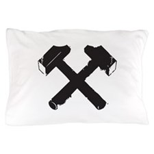 Crossed Hammers Pillow Case