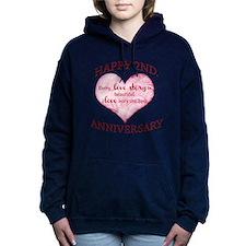 2nd. Anniversary Women's Hooded Sweatshirt