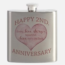 2nd. Anniversary Flask