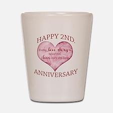 2nd. Anniversary Shot Glass