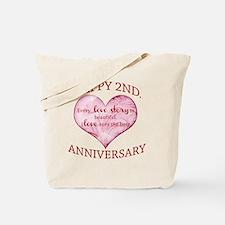 2nd. Anniversary Tote Bag