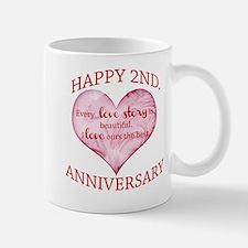 2nd. Anniversary Small Small Mug