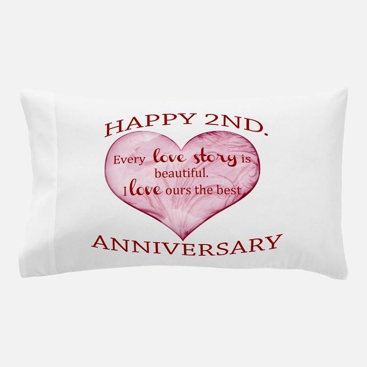 2nd. Anniversary Pillow Case