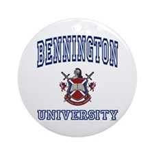 BENNINGTON University Ornament (Round)
