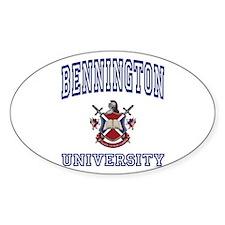BENNINGTON University Oval Decal