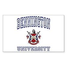 BENNINGTON University Rectangle Bumper Stickers