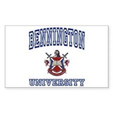 BENNINGTON University Rectangle Decal