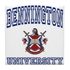 BENNINGTON University Tile Coaster
