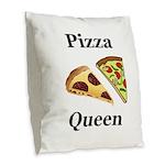 Pizza Queen Burlap Throw Pillow