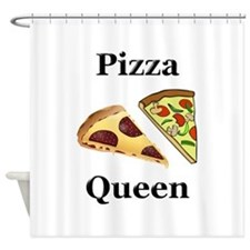 Pizza Queen Shower Curtain