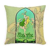 Absinthe Burlap Pillows