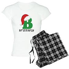 Christmas Santa Hat B Monogram Pajamas