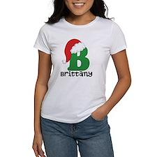 Christmas Santa Hat B Monogram T-Shirt