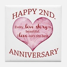 2nd. Anniversary Tile Coaster