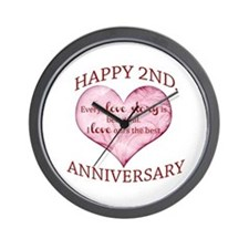 2nd. Anniversary Wall Clock