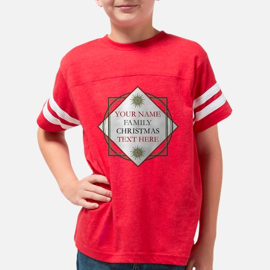 Family Christmas Personalized Youth Football Shirt
