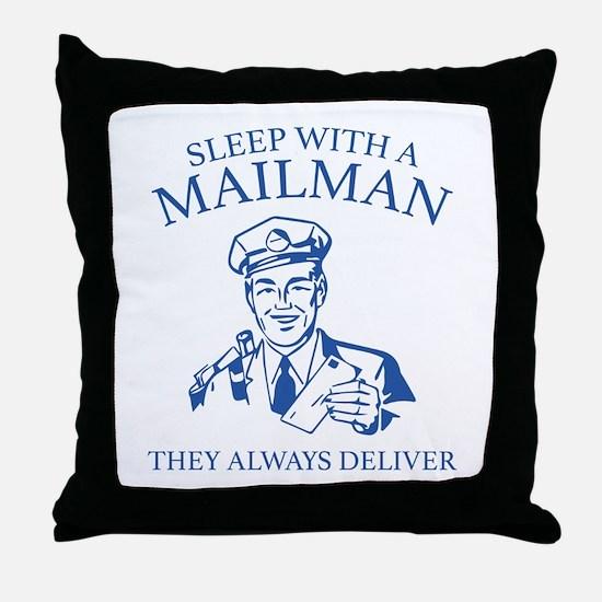 Sleep With A Mailman Throw Pillow