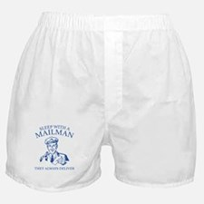 Sleep With A Mailman Boxer Shorts
