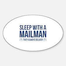 Sleep With A Mailman Decal