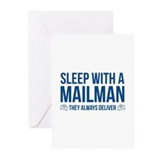 Sleep With A Mailman Greeting Cards (Pk of 10)