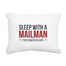 Sleep With A Mailman Rectangular Canvas Pillow