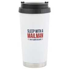 Sleep With A Mailman Ceramic Travel Mug