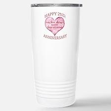 2nd. Anniversary Stainless Steel Travel Mug