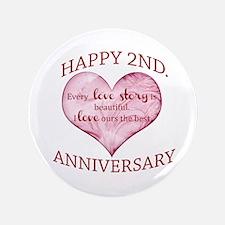 "2nd. Anniversary 3.5"" Button"