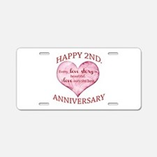2nd. Anniversary Aluminum License Plate