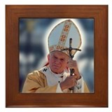 Pope john paul ii Framed Tiles