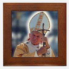 St. John Paul II Framed Tile